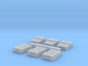 3 Slot Ammo Pouches in Smooth Fine Detail Plastic