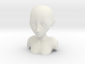 bust test (surface mesh) in White Natural Versatile Plastic