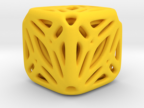 Nested Tessellated Cube  in Yellow Processed Versatile Plastic