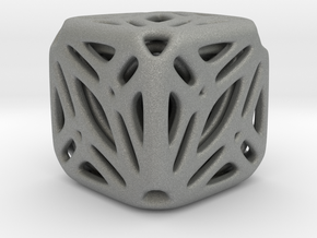 Nested Tessellated Cube  in Gray Professional Plastic