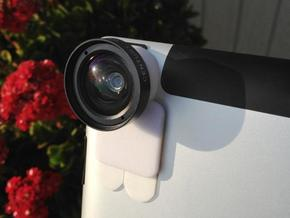 iPro lens mount for iPad 3 - Stick on in White Natural Versatile Plastic