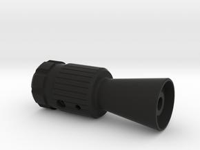 Flash hider (c96 sized) in Black Natural Versatile Plastic
