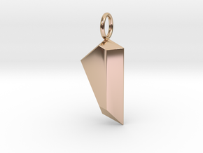 Gem Pendant in 14k Rose Gold Plated Brass