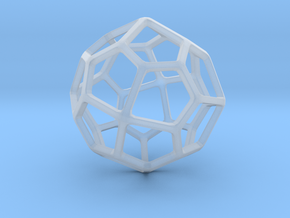 Pentagonal Icositetrahedron in Smooth Fine Detail Plastic: Small