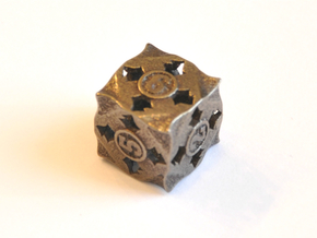 D6 Balanced - Fire in Polished Bronze Steel