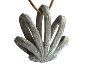 Cannabis Leaf - Five in Polished Bronzed-Silver Steel