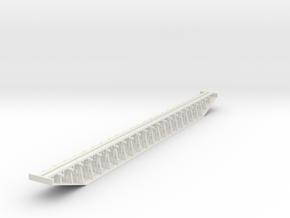 Trestle N (1:160) Six Piles Bridge Rigid in White Natural Versatile Plastic