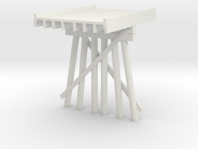 Part B Deck Trestle N (1:160) Modular Six Piles in White Natural Versatile Plastic