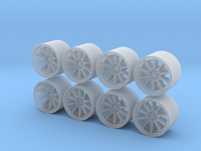 CE28 11x8mm 1/43 Wheels in Smoothest Fine Detail Plastic