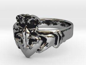 NOLA Claddagh, Ring Size 10 in Antique Silver