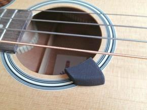 Acoustic Bass Guitar Thumb Rest in White Strong & Flexible