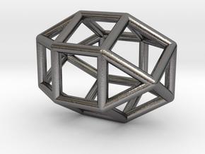 0821 J36  Elongated Triangular Gyrobicupola #1 in Polished Nickel Steel