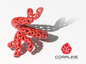 Red Coral Ring in Red Strong & Flexible Polished