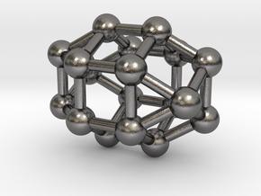 0823 J36 Elongated Triangular Gyrobicupola #3 in Polished Nickel Steel
