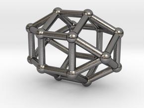 0822 J36 Elongated Triangular Gyrobicupola #2 in Polished Nickel Steel