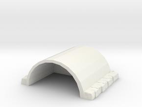 Cement Hanger in White Natural Versatile Plastic