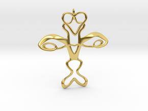 Cross in Polished Brass