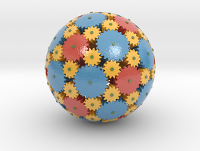 Gearsphere Colored in Glossy Full Color Sandstone