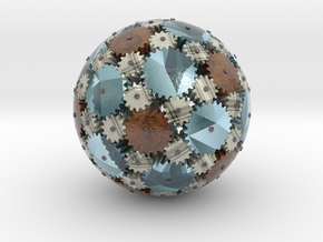 Gearsphere Textured in Glossy Full Color Sandstone