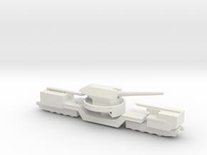 soviet railway artillery TM-1-180 1/160  in White Natural Versatile Plastic