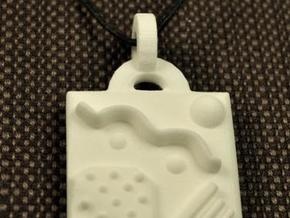 Miscellany Pendant in White Natural Versatile Plastic