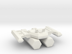 3788 Scale Kzinti Tug with Two Pods SRZ in White Natural Versatile Plastic