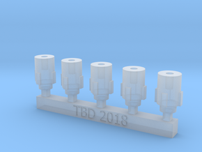 Bolt Rifle Suppressors Stubby v1 x5 in Smoothest Fine Detail Plastic