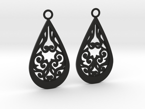 Persephone earrings in Black Natural Versatile Plastic: Large