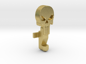 Punisher Skull Bolt Catch (Marui Style M4's) in Natural Brass