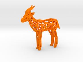 Thomson's Gazelle (adult male) in Orange Processed Versatile Plastic