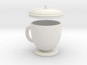 Acorn TeaCup  in White Natural Versatile Plastic