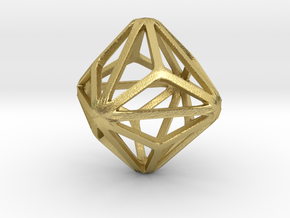 Triakis Octahedron in Natural Brass: Small