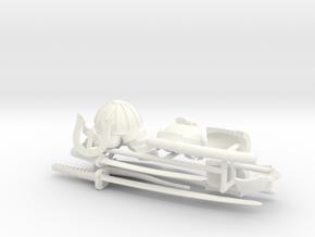 SAMURAI ACCESSORIES #1  in White Processed Versatile Plastic