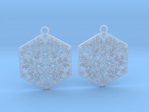 Ornamental earrings in Smooth Fine Detail Plastic