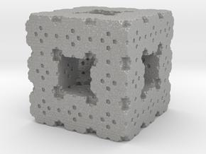 Menger Cube Fractal in Aluminum