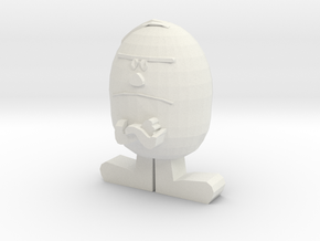 Mr. Stubborn in White Natural Versatile Plastic
