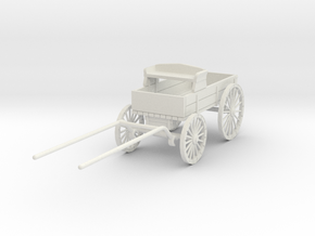 HDV03A Ranch Wagon (28mm Wargaming) in White Natural Versatile Plastic