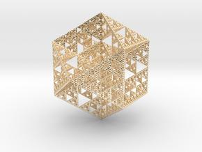 True Sierpiński Fractal in 14k Gold Plated Brass