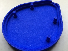 DropBeacon-Base-With-Snap-Mechanism-20140221 in Blue Strong & Flexible Polished
