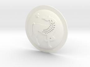 HOPLITE SHIELD HORSE  in White Processed Versatile Plastic