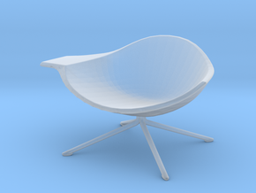 Miniature Low Lotus Chair - Artifort  in Smooth Fine Detail Plastic: 1:12