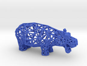 Hippopotamus (adult) in Blue Processed Versatile Plastic