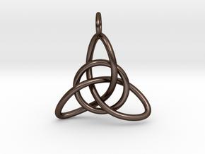 Celtic Knot in Polished Bronze Steel