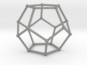 Thin Dodecahedron with spheres in Gray PA12