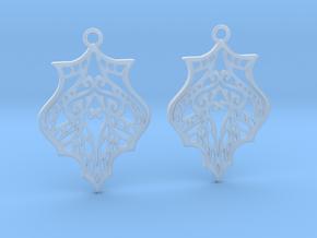 Eris earrings in Smooth Fine Detail Plastic: Medium