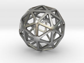 Pentakis Dodecahedron in Natural Silver: Small