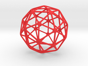 Pentakis Dodecahedron in Red Processed Versatile Plastic: Large