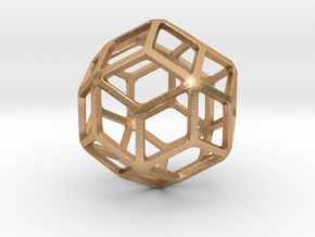 Rhombic Triacontahedron in Natural Bronze: Small