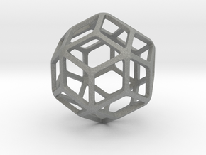 Rhombic Triacontahedron in Gray Professional Plastic: Small