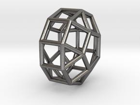 0827 J38 Elongated Pentagonal Orthobicupola #1 in Polished Nickel Steel